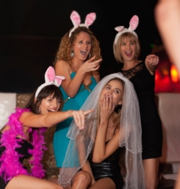 Girls partying with penis